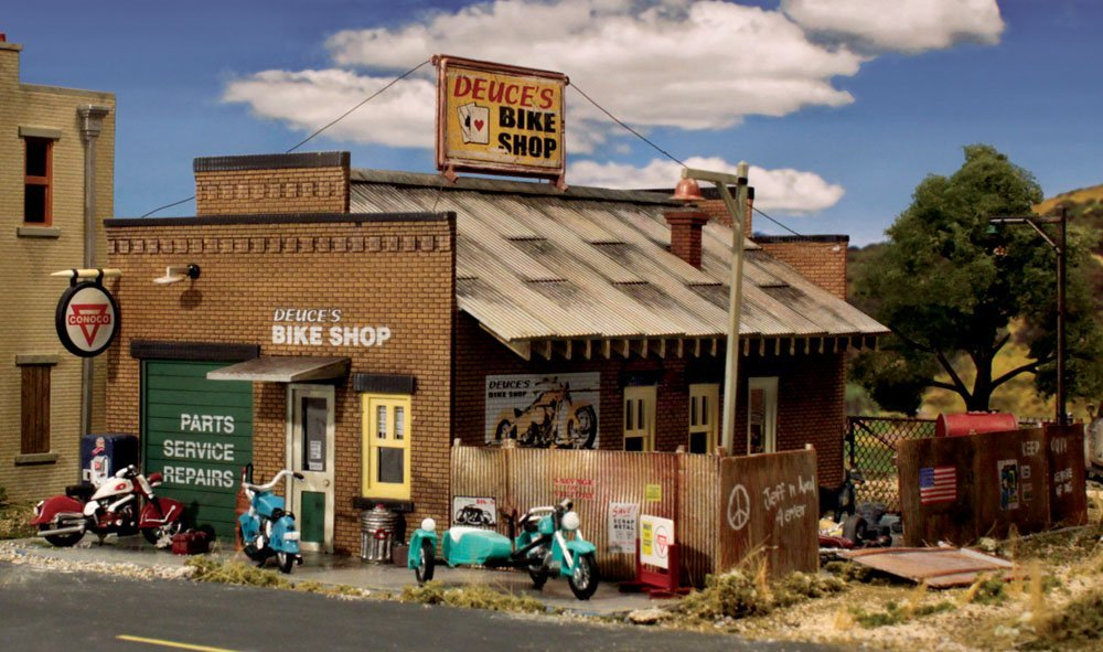 Woodland Scenics BR5845 O Scale Deuces Bike Shop  Kit
