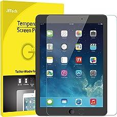 """JETech Protector de Pantalla para Apple el nuevo iPad (9,7 Pulgadas, 2018/2017 Modelo), iPad Air 1, iPad Air 2, iPad Pro 9,7"""", Vidrio Templado"""