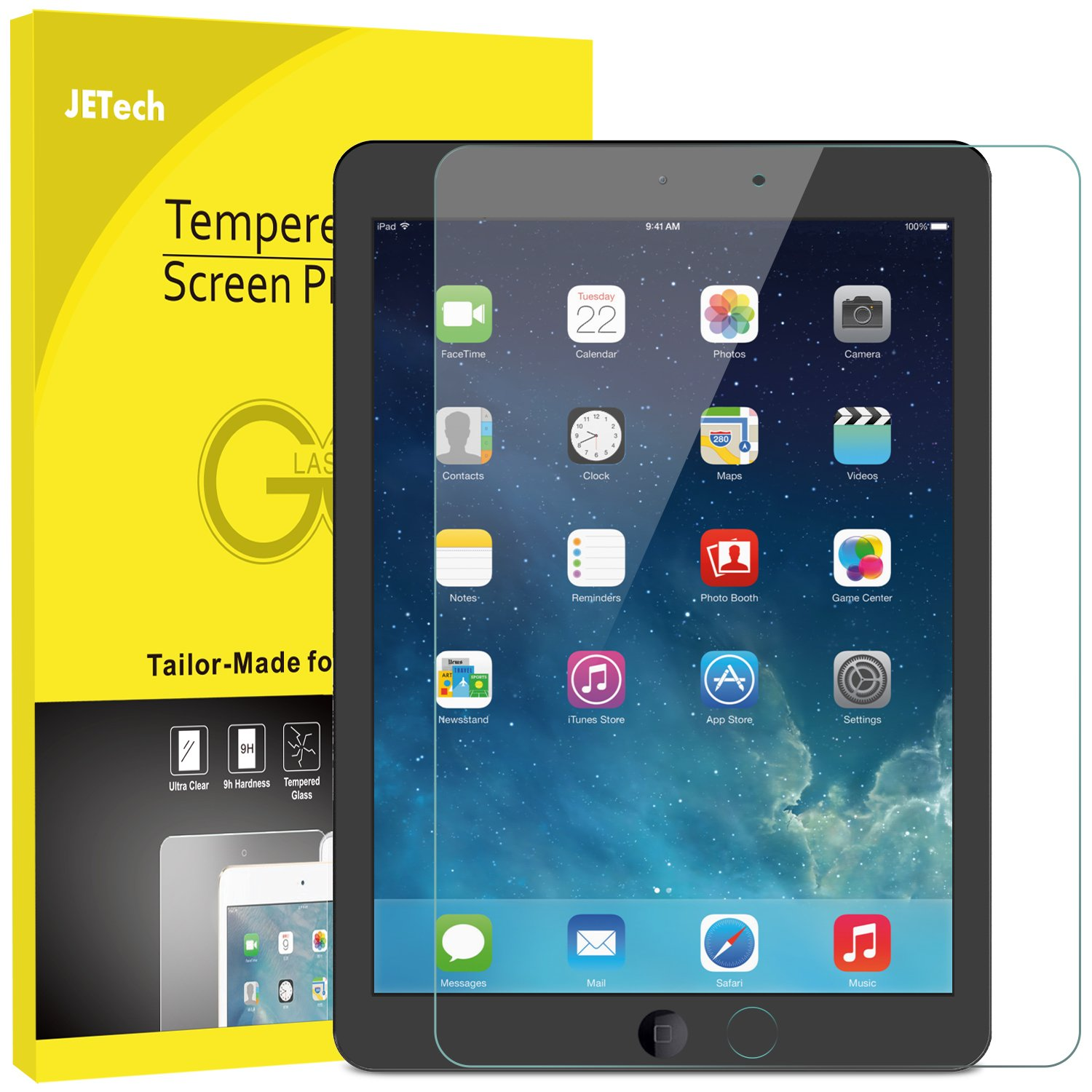 galleon jetech screen protector for apple ipad 9 7 inch. Black Bedroom Furniture Sets. Home Design Ideas