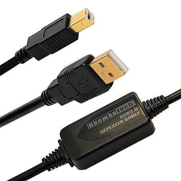 Rhombutech 10 metros USB 2.0 alargador, Activo, amplificador de señal, repetidor, alargador