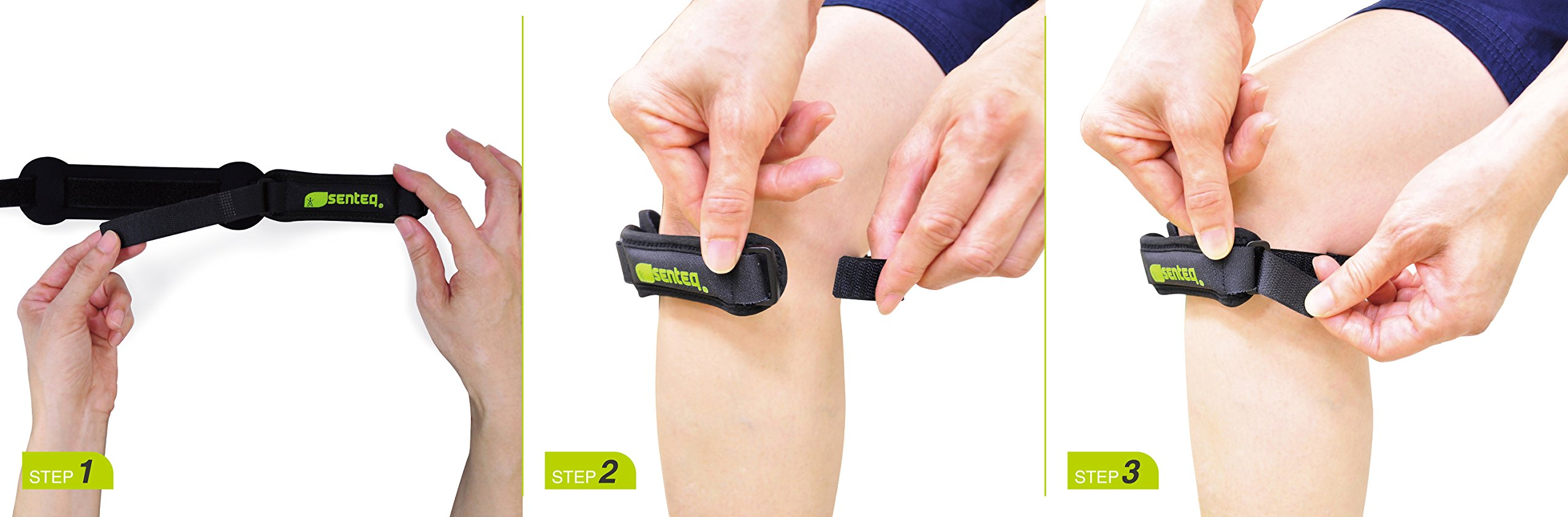 SENTEQ Knee Strap Support Brace - Medical Grade and FDA Approved. Adjustable Patella Knee Support to Prevent Pain and Tendinitis (2 piece) by SENTEQ (Image #2)