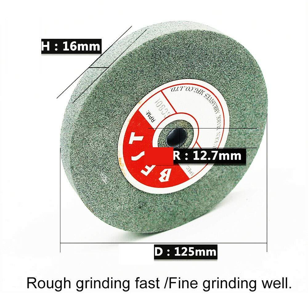 46# /125x16x12.7mm meule abrasive de rechange Blanc pour le meulage de pr/écision et meulage rapide 1x Meule pour touret /à meuler