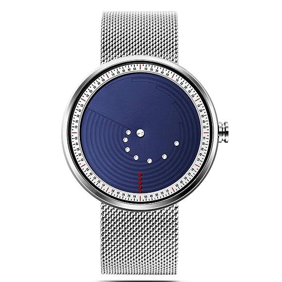 Cool Relojes Relojes Exclusivos Relojes de Hombre Minimalista Reloj de Malla para Hombre