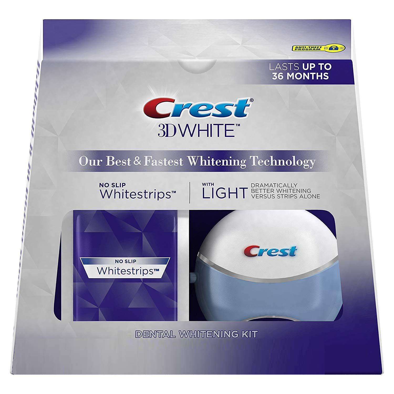 Amazon Com Crest 3d White Whitestrips With Light Teeth Whitening