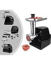 Leogreen - Amoladora de Carne, Trituradora de Carne, Negro, con placas de corte, Potencia máxima: 1600 W, Voltaje: 220-240 V