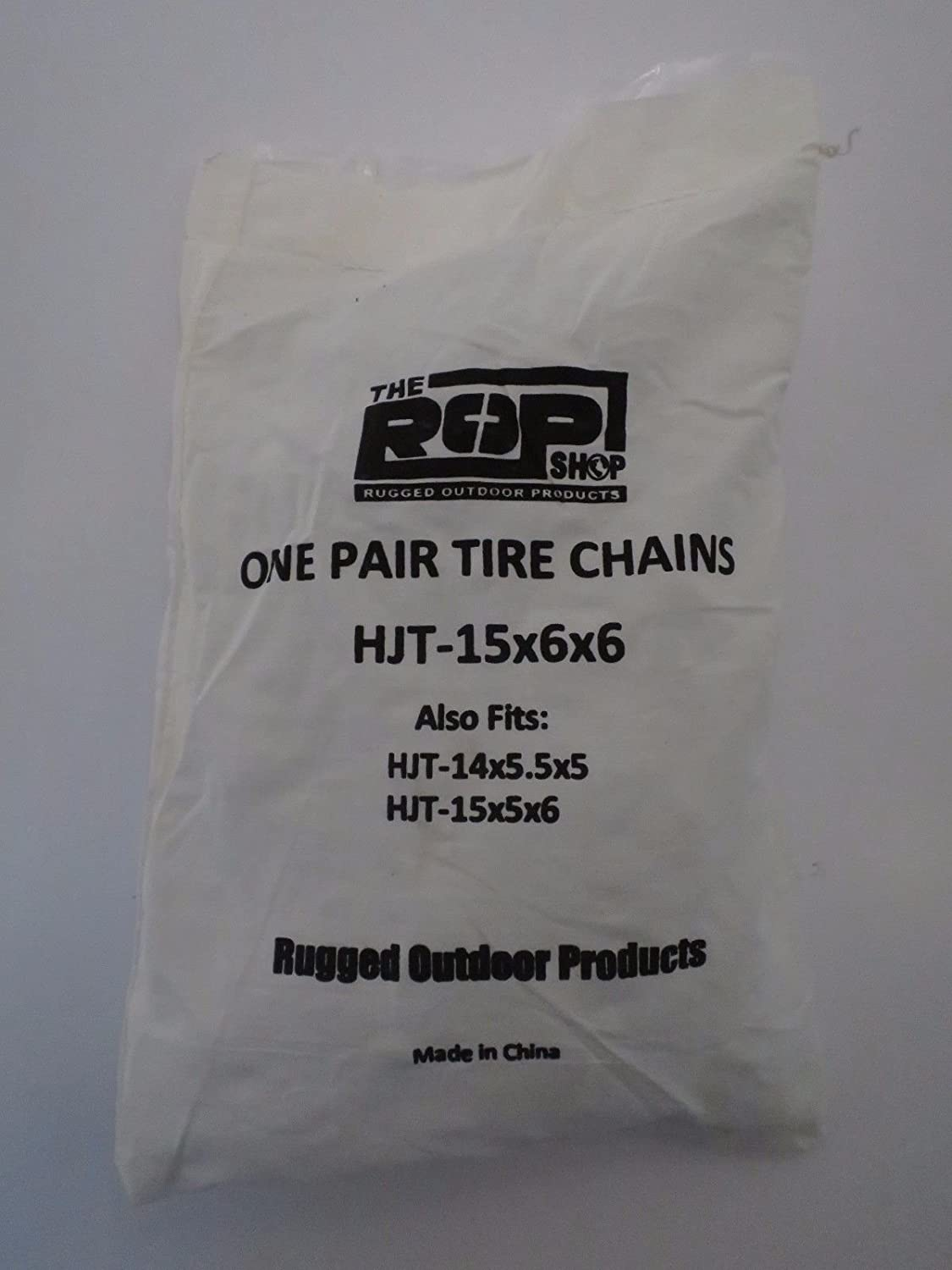 The ROP Shop Pair 2 Link TIRE Chains 15x5x6 fits Many Honda MUV Pioneer UTV Utility Vehicle