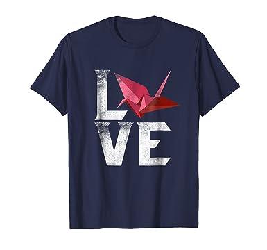 Amazon Love Cool Origami Gifts T Shirt Bird Tee Japanese