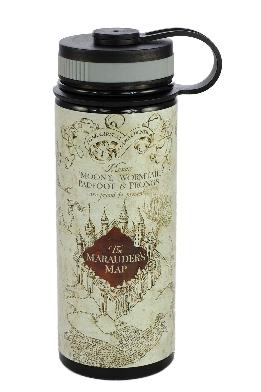 Seven20, Harry Potter Travel Mug - Stainless Steel Harry Potter Tumbler - Perfect Harry Potter Gifts for Women, Men and Muggles - 18 Ounce Water Bottle, Marauder's Map Design