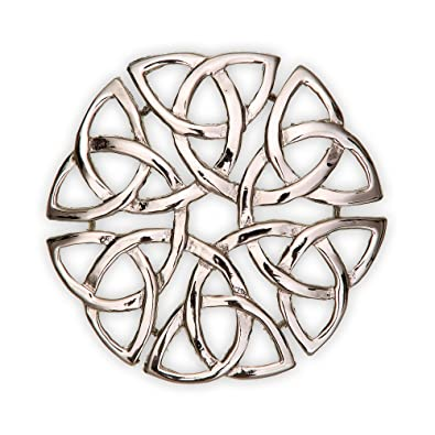 B751 Eternal Interlace Celtic Pewter Brooch Made in Scotland by Art Pewter