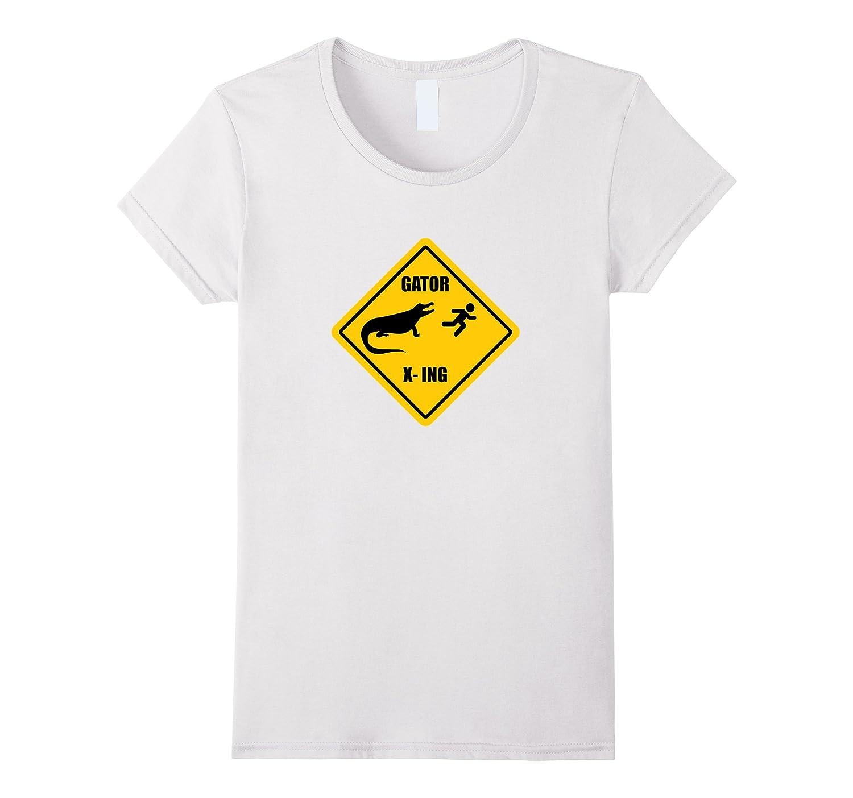 Amazon funny alligator gator crossing sign t shirt clothing buycottarizona Image collections