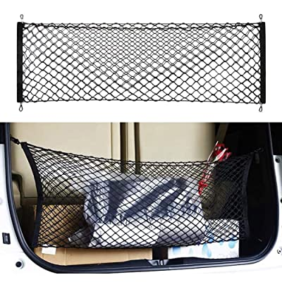 """Gvbest Car Rear Cargo Trunk Storage Organizer Net,Hook Up Elastic Envelope Luggage Net Truck Bed Storage (36""""x 16"""") Universal Fit for Cars SUV and Trucks Small Vans: Automotive"""