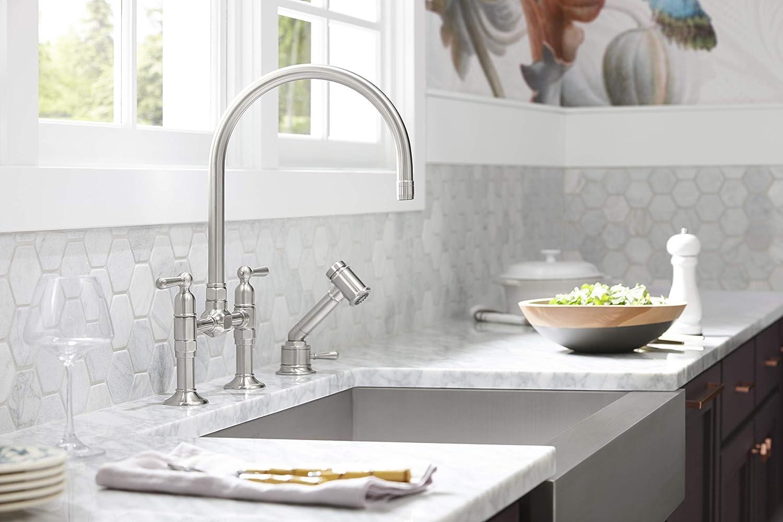 kohler 3936 na vault tm 29 1 2 x 21 1 4 x 9 5 16 under mount single bowl stainless steel with short apron for 30 cabinet kitchen sink 30 inch