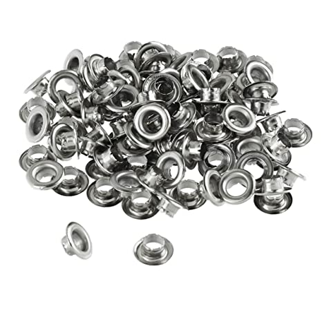 100Pcs  Round Grommet Eyelet,Black Eyelets Grommets With Washers,Small Grommet,9mm\u00d75mm Plated Metal EyeletsFor Bead Cores 6mm\u00d73mm