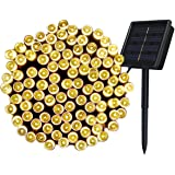 Innoo Tech Chriistmas Outdoor Solar String 200 Led Fairy Lights Warm White Light 8 Mode Decoration Lighting Bulb for Patio,Party,Wedding,Camping,Yard