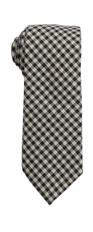 SPREZZA Mens Gingham Tie Multiple Colors Classic 2.75 inch Slim Necktie