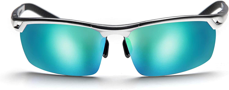 High-Quality Sunglasses Metal Sport Hombre. Polarizadas Protección Total UV400. Visión Ntida Sin Reflejos. Contrastes Superiores y Colores Naturales.