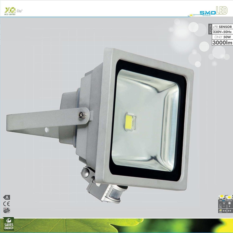 1.800 Lumen Ranex XQ-lite XQ1224 LED Fluter mit Bewegungsmelder IP65 gesch/ützt 65 Ra 6.400 Kelvin