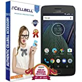 Cellbell Tempered Glass Screen Protector With Free Installation Kit for Moto G5 Plus Mobile