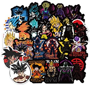 Dragon Ball Z Laptop Stickers, 100 Pcs Anime Vinyl Sticker for Water Bottle Nintendo Switch Luggage Skateboard Snowboard Bike Motorcycle Car Bumper, Cute Cartoon Animal Monsters Decal for Kids Toddler