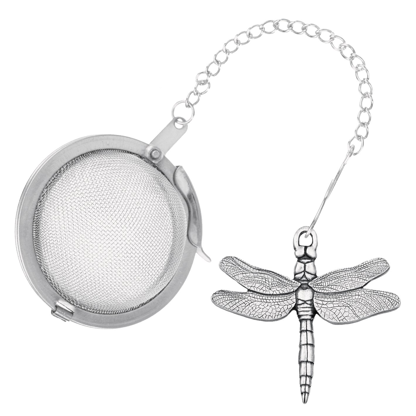 Danforth - Dragonfly Pewter Tea Infuser - Handcrafted - Gift Boxed - Made in USA by Danforth