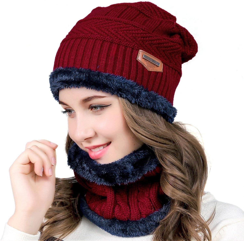 Bufanda Gorro Invierno un Conjunto Tejer Beanie Gorro Cálido Sombrero Más Grueso con Bufanda Para Hombre Mujer
