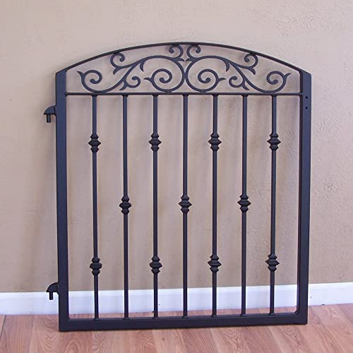 Ornamental Iron Scrolls Garden Fence Gate