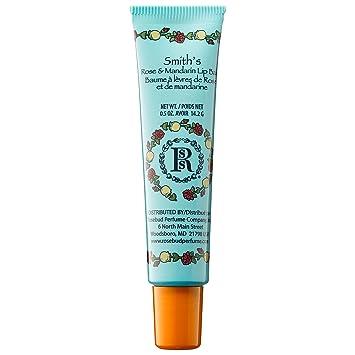 Rosebud Perfume Company Mandarin and Rose Lip Balm Tube, 0.5 oz Freeman Mega 8 Complex Superfruits Detoxifying Clay Facial Mask 6 oz (Pack of 2)