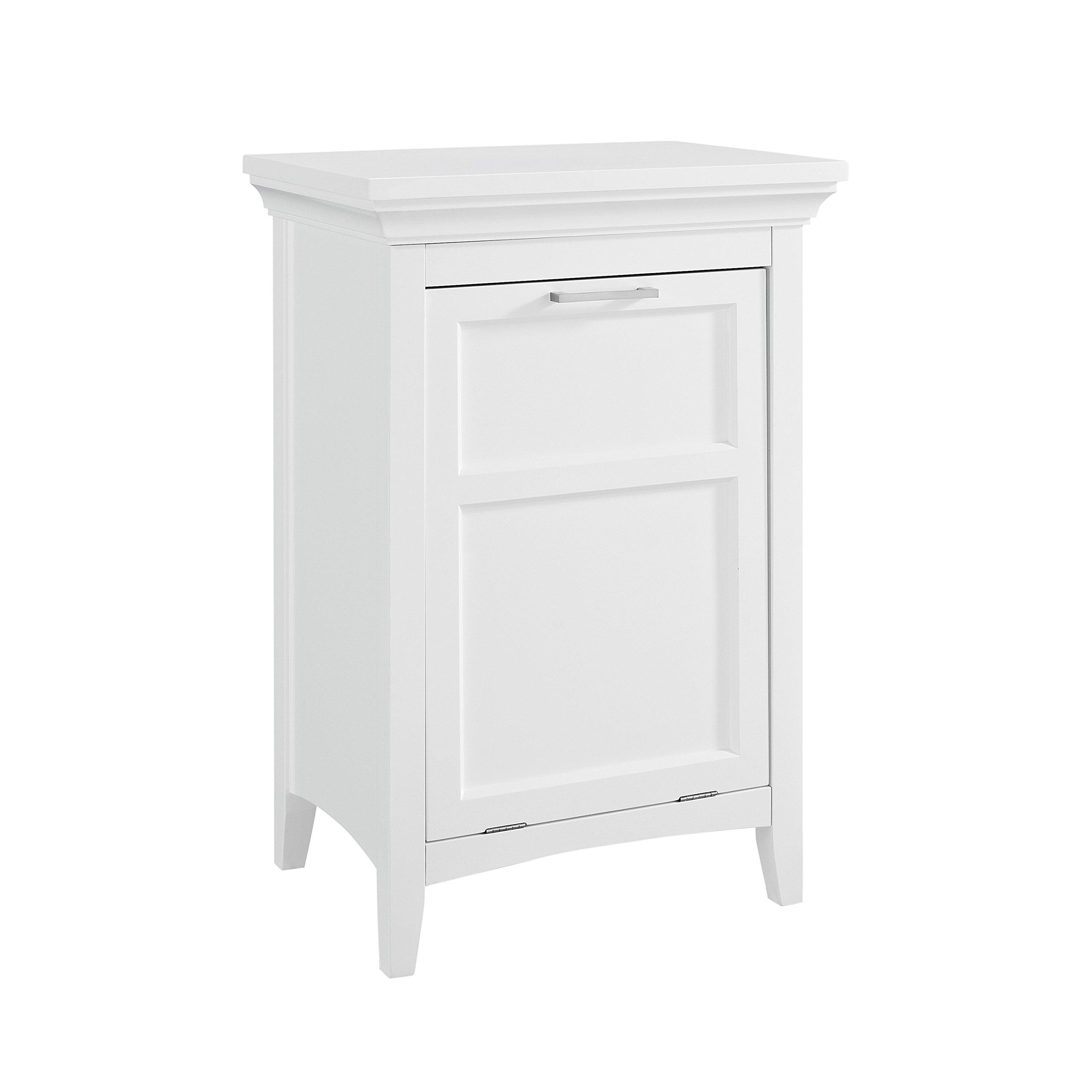 Simpli Home Avington Laundry Hamper, White