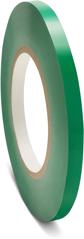 Poly Bag Sealer Tape, Green, 3/8 Inch x 180 Yards, 6 Rolls