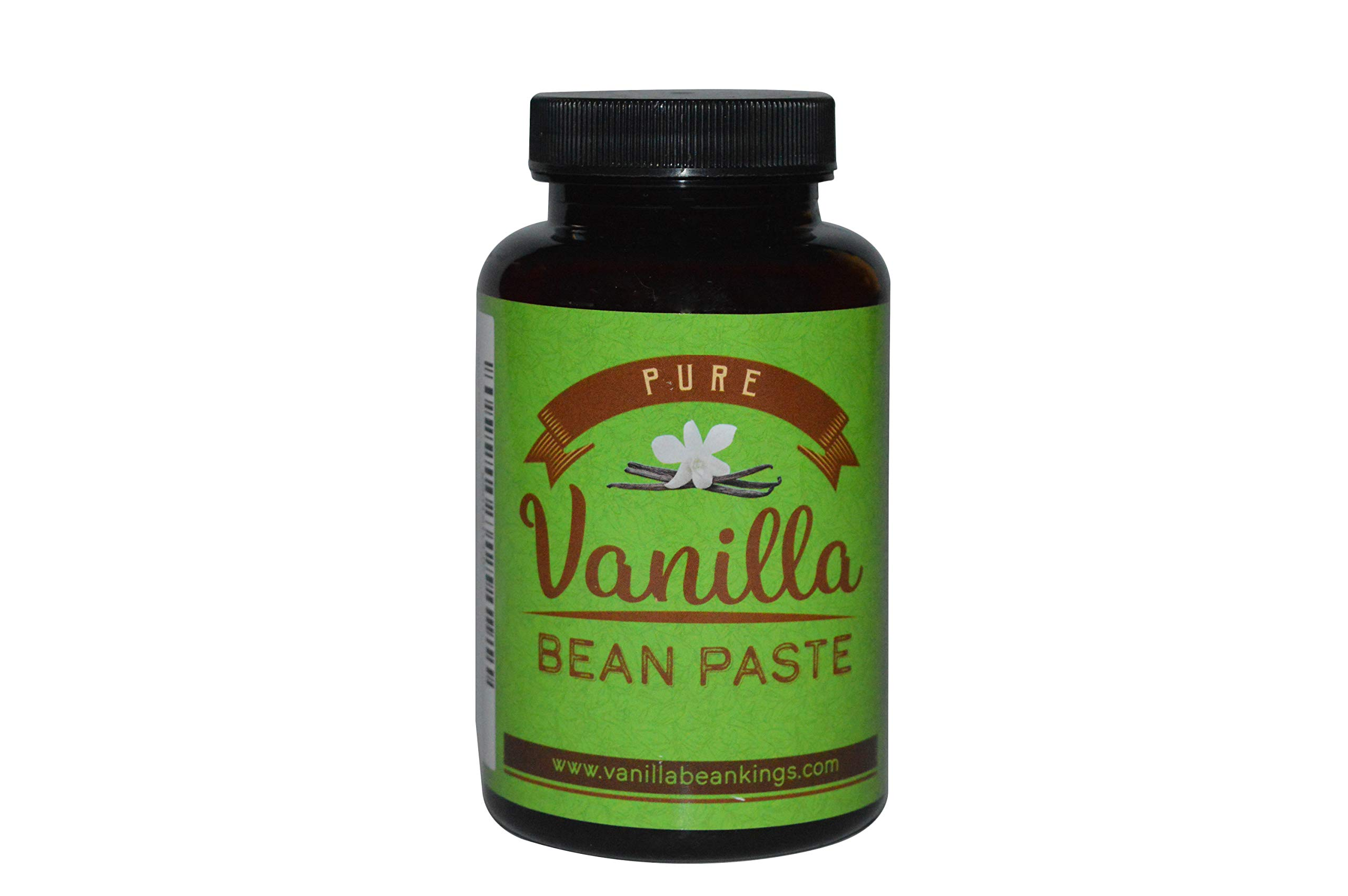 Pure Vanilla Bean Paste for Baking and Cooking - Gourmet Madagascar Bourbon Blend made with Real Vanilla Seeds - 8 Ounces by Vanilla Bean Kings