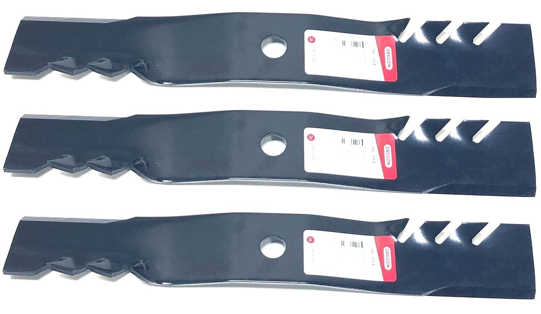 Set of 3, Made In USA Gator 3-In-1 Mulching Blades For John Deere M127500, M127673, or M145476