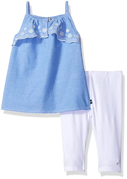 9c3f4fd45c175 Image Unavailable. Image not available for. Color: Nautica Baby Girls' Fashion  Top with Capri Legging Set ...