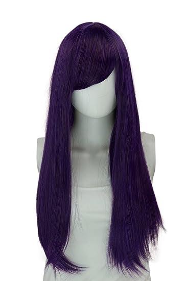 Amazon Com Epic Cosplay Nyx Shadow Purple Long Straight Wig 28