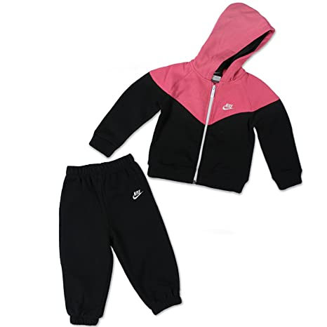Nike - Chándal Infantil Negro Rosa y Negro Talla:18/24 Meses ...