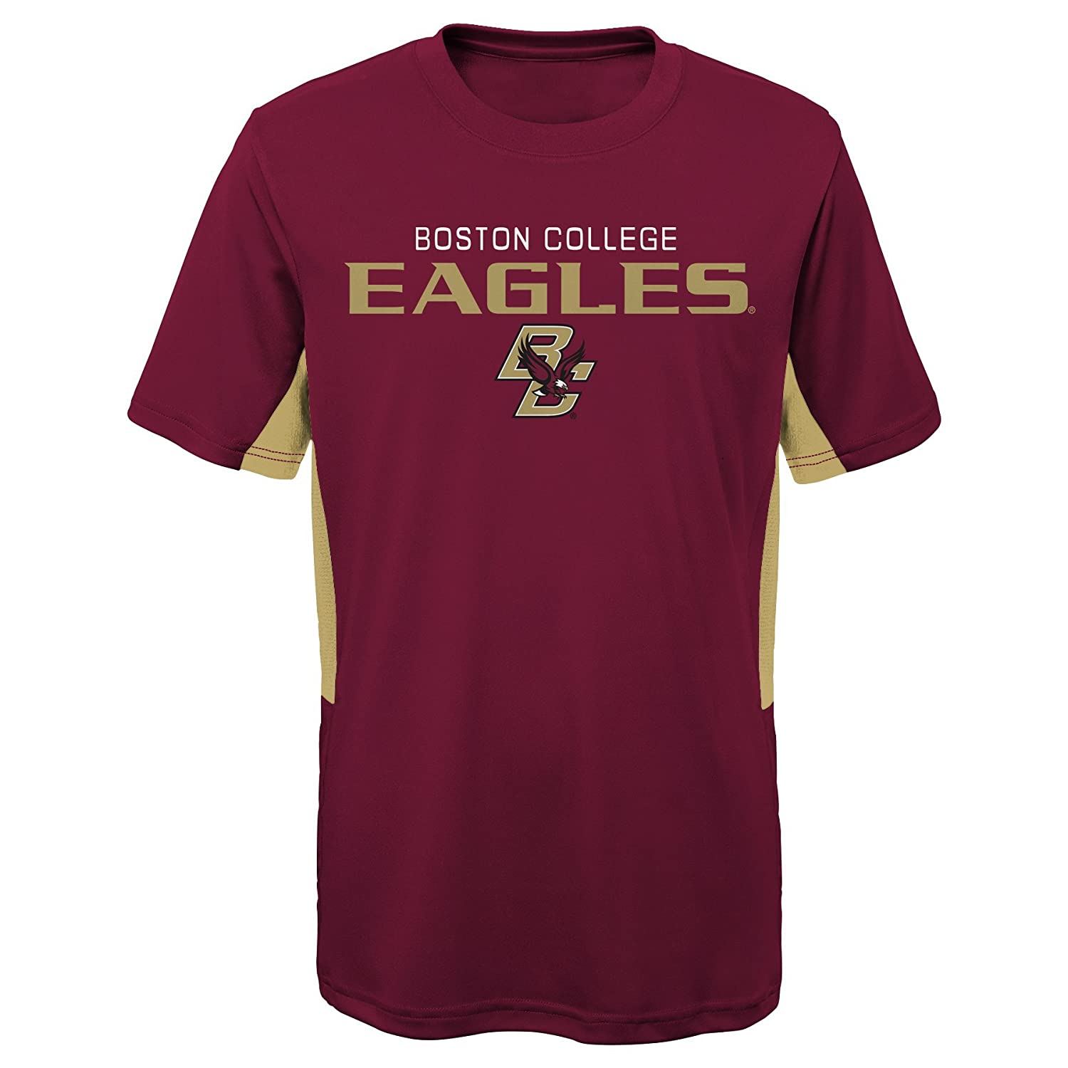 Youth Large NCAA by Outerstuff NCAA Boston College Eagles Youth Boys Mainframe: Short Sleeve Performance Top Burgundy 14-16