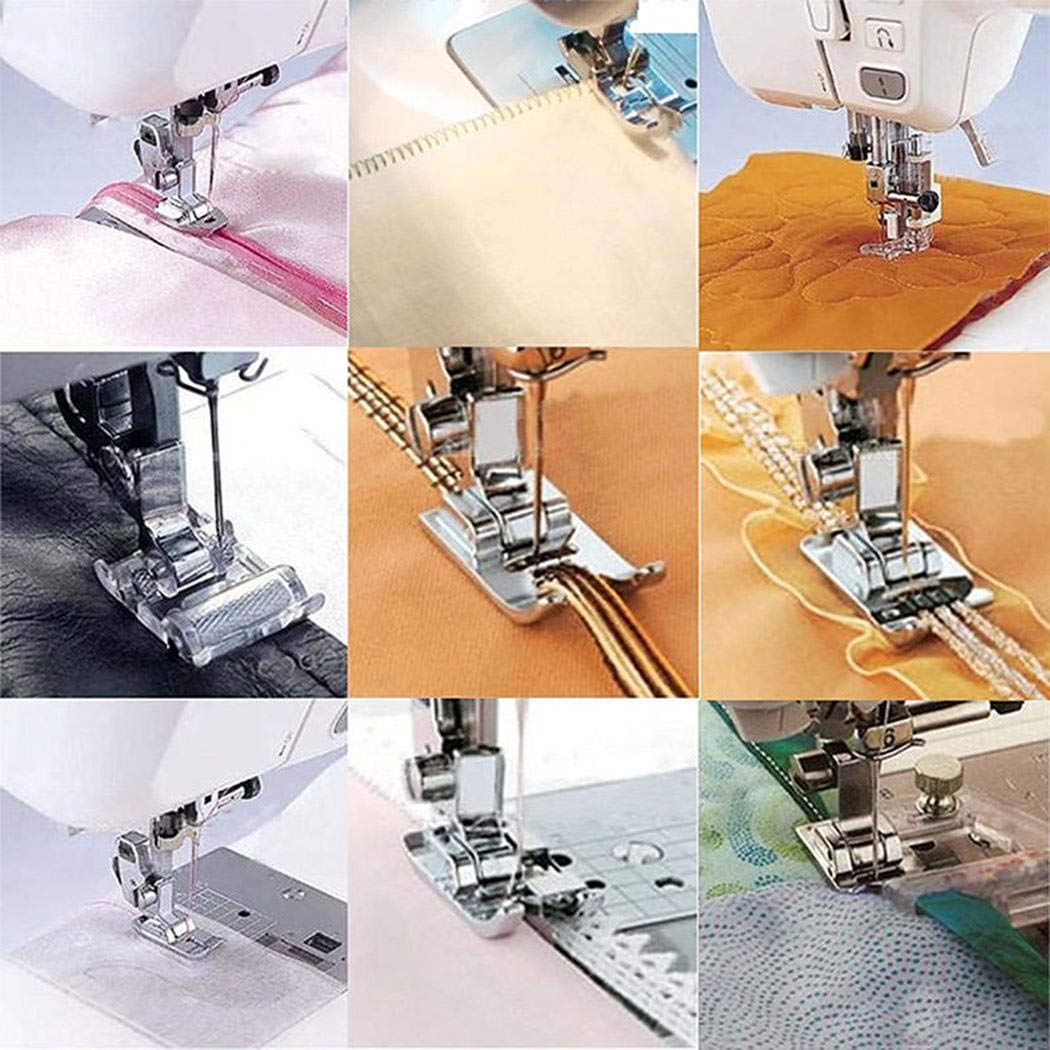 Blenko 11 Pcs Sewing Machine Presser Feet Set for Low Shank Snap-On Sewing Machine New Home Sewing Machines Multi-Function Sewing Machine Accessories Presser Feet Set
