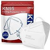 KN95 Face Mask 20Pcs, 5 Layer Design Cup Dust Safety Masks, Breathable Protection Masks Against PM2.5 Dust Bulk for Adult, Me