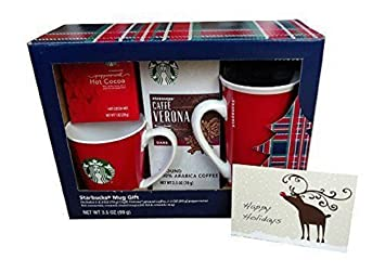 Starbucks 4 Pc Christmas Gift Set Ceramic Travel Mug Coffee
