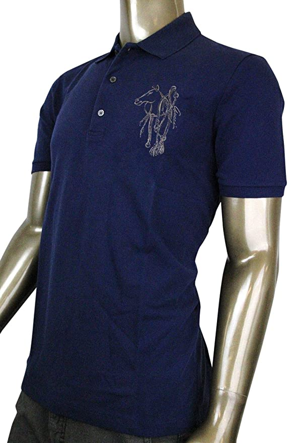 bda905ae5 Gucci Embroidered Navy Cotton Slim Fit Horse Polo Shirt 338567 4564 (3XL):  Amazon.ca: Clothing & Accessories
