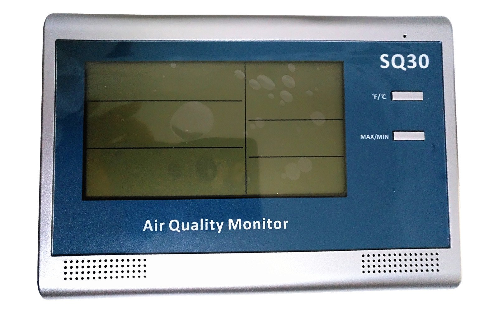 Santacary SQ30 Wall Mount or Desktop Air Quality Monitor, Accurate Measuring PM2.5, PM10, CO2, Humidity and Temperature, Multifunctional Indoor Air Quality Monitor
