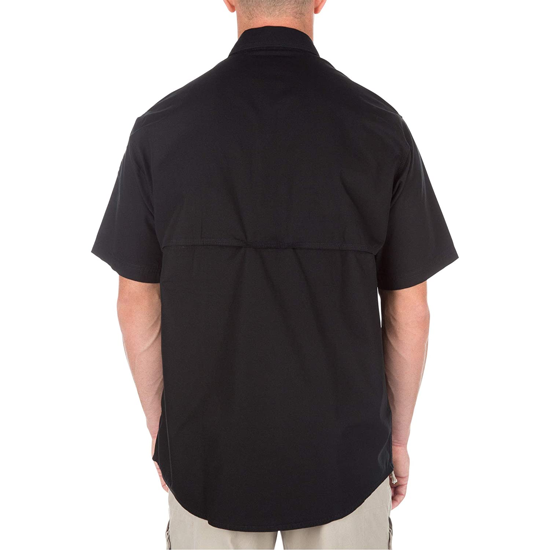 b1cec71b9 Amazon.com: 5.11 Tactical Men's Short Sleeve Low Profile Design Button Up  Polo Shirt, Cotton Fabric, Style 71152: Clothing