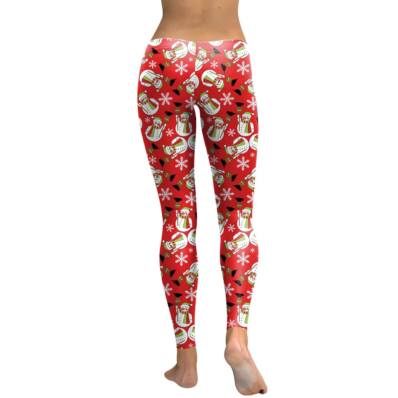 YUJIAGE Pantalones De Yoga 3D Muñeco De Nieve Personalizado ...