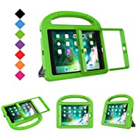 BMOUO Case for iPad Mini 1 2 3 with Built-in Screen Protector, Shockproof Lightweight Hard Cover Handle Stand Kids Case for Apple iPad Mini 1st 2nd 3rd Generation, Green