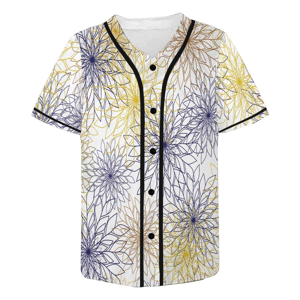 INTERESTPRINT Mens Fashion Baseball Jersey T-Shirt