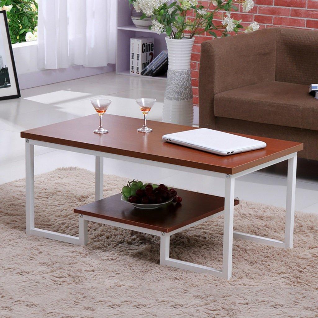 シンプルなダブル錬鉄製コーヒーテーブルクリエイティブリビングルームオフィスコーヒーテーブルティーテーブル (色 : A) B07F8363QR A A