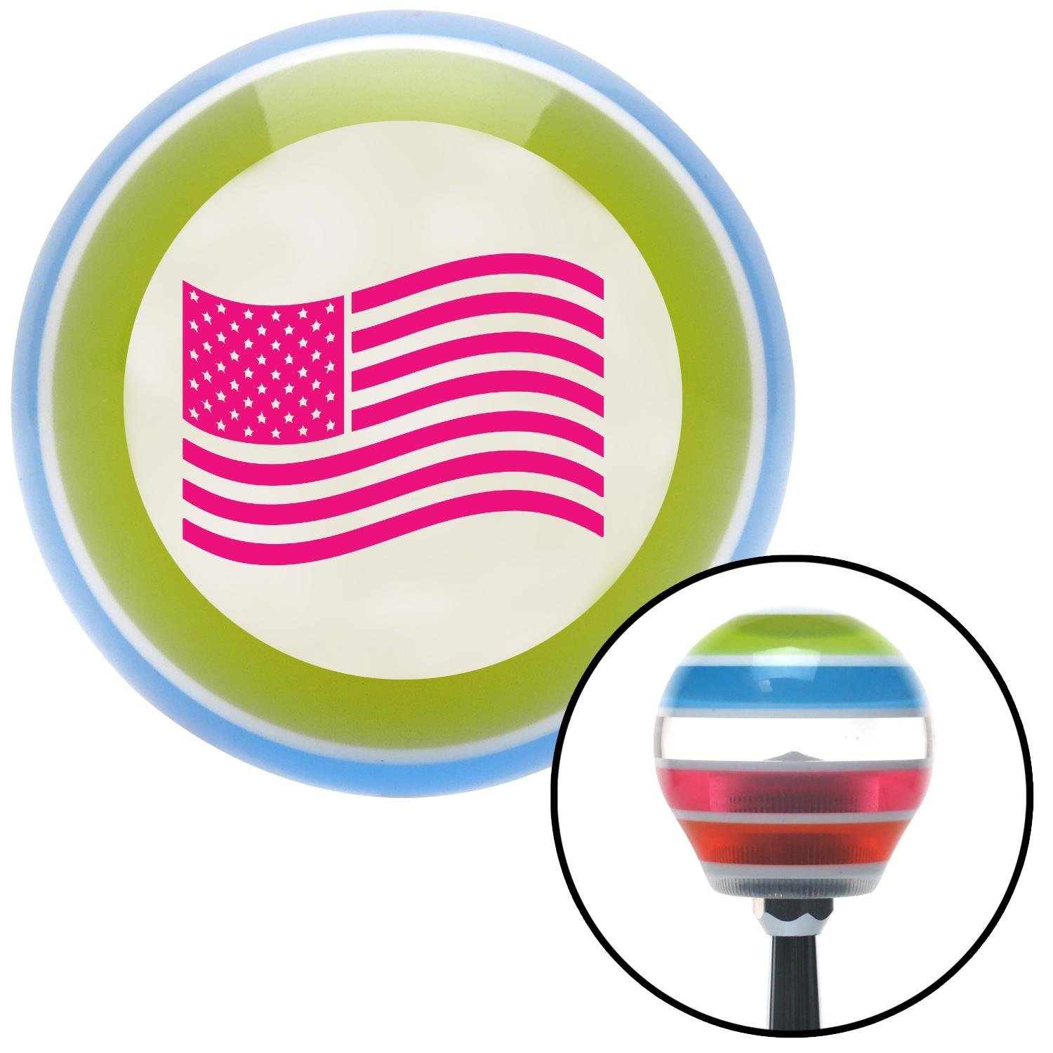 Pink US Flag American Shifter 137639 Stripe Shift Knob with M16 x 1.5 Insert