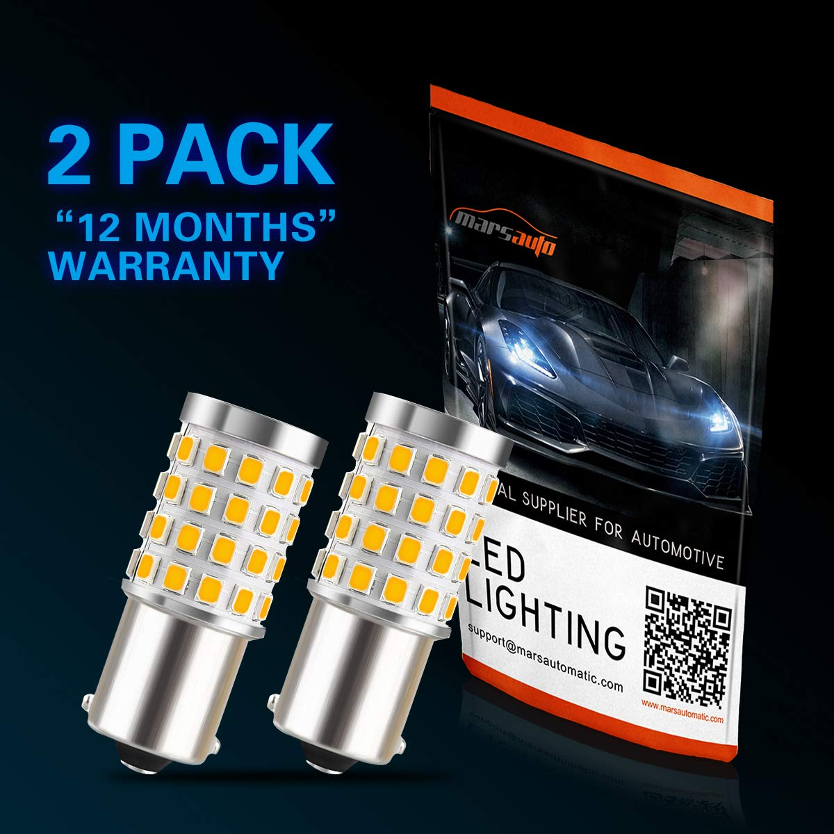 Marsauto 194 T10 LED Bulb 6000K Xenon White Car Interior Dome Map Door Courtesy License Plate Side Marker Turn Signal Brake Tail Lights Bulbs Replacement Extreme Bright