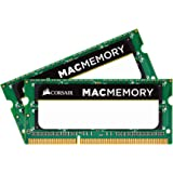 Corsair CMSA8GX3M2A1066C7 Apple 8 GB Dual Channel Kit DDR3 1066 (PC3 8500) 204-Pin DDR3 Laptop SO-DIMM Memory 1.5V, Beige