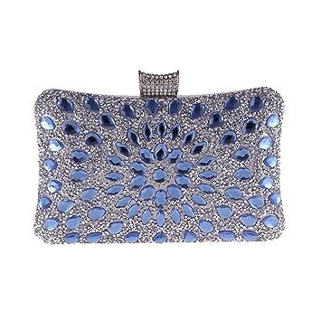 ec835f417 HSDDA Bolso de Noche Clutch de Noche Bolso de Noche de Diamantes Bolso  Bandolera Dorado para Mujer Bolso de Fiesta (Color : Azul): Amazon.es: Hogar