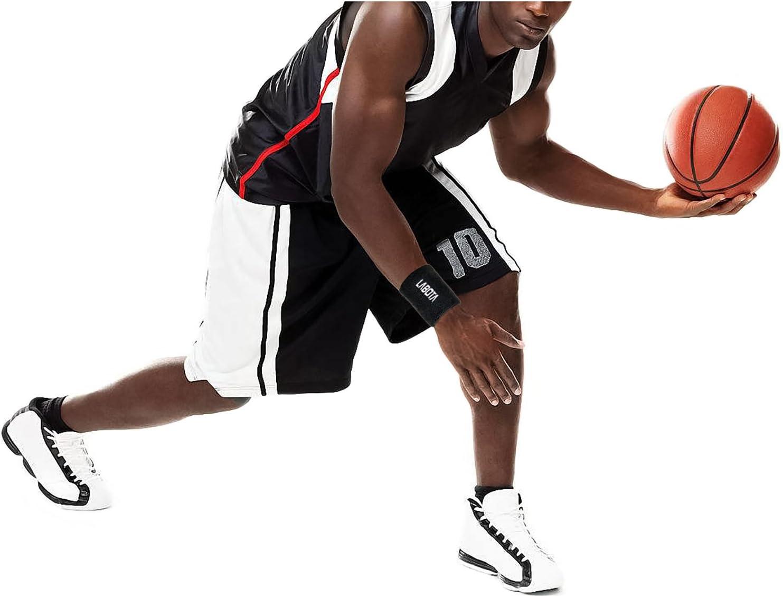 LABOTA 8 Pi/èces Poignet Bandeau Poignet /éponge Sweatbands Coton Athl/étique Sport Poignets Bracelets pour Basketball Football